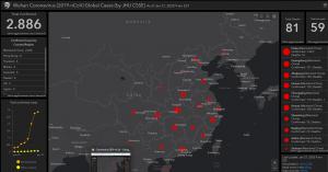 Mappa per monitorare a livello mondiale la diffusione del Coronavirus.