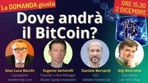 Mercoledì 2 dicembre 2020 – Dove andrà il Bitcoin