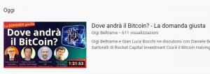 """Youtube: riguarda """"Dove andrà il Bitcoin"""""""
